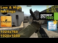 GTX 1060 | CSGO [i3 6100*] 1024x768, 1080p - Low & High - Matchmaking
