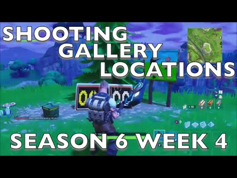 Fortnite: Shooting Gallery Locations! Shoot 3 Targets At Different Shooting Gallery Season 6 Week 4