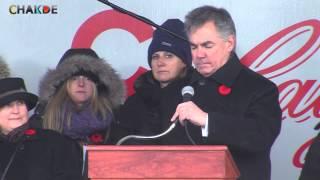 Premier Jim Prentice on Remembrance Day