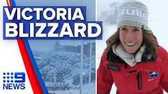 Big snowfall as cold front lashes Australia's south   Nine News Australia
