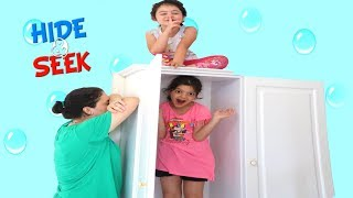 Elif Öykü and Masal Hide and Seek funny for kids