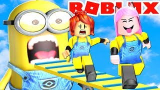 GAVE the CRAZY IN the MINIONS (Roblox-CHALLENGE OF THE SUBSCRIBERS)