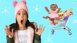 MASAL LUVABELLAYI MARKETTE UNUTTU!  Doing Shopping - Supermarket Song - Kids Shopping Cart