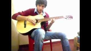 Bob esponja - Cancion Final con Guitarra. (Punteos)