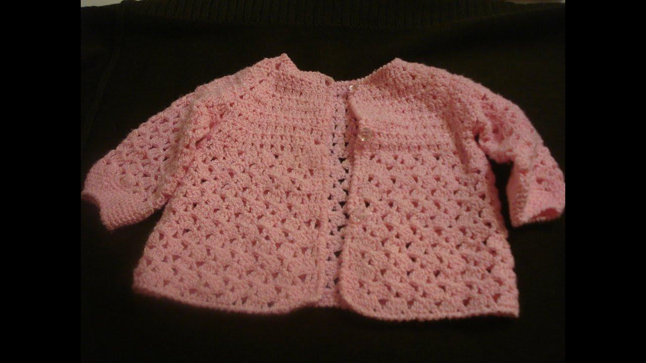 Ropa tejida para beb chambra gancho parte 3 de 3 youtube for Gancho colgador de ropa
