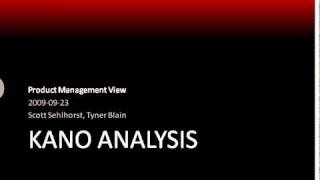 Product Management View Webinar Series - Kano Analysis