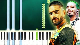 Maluma & J Balvin - Que Pena (Piano Tutorial Easy) By MUSICHELP