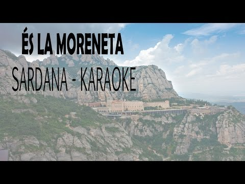 És la moreneta - SARDANA - Playback (Karaoke)