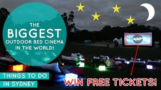 The Biggest Outdoor Bed Cinema In The World! - Our Mov'In Bed Experience