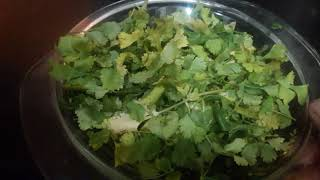How to make coriander  leaves powder