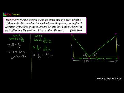 Height and distance-1 [Maths Class 10th]