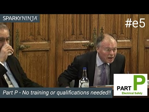 Part P - No training or qualifications needed!!