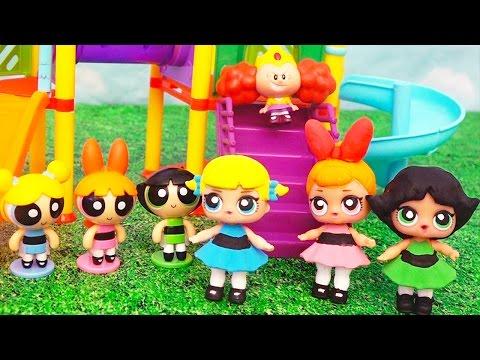 Surprise Toys L.O.L. Dolls Turn Into the Powerpuff Girls!!! - PPG Custom Dolls