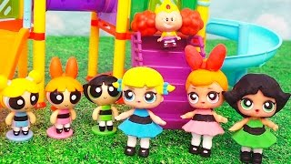 Toys Like Surprise Eggs for Kids L.O.L. Dolls Turn Into Powerpuff Girls at the Playground - DIY