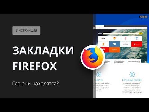 Закладки Firefox. Где они находятся?