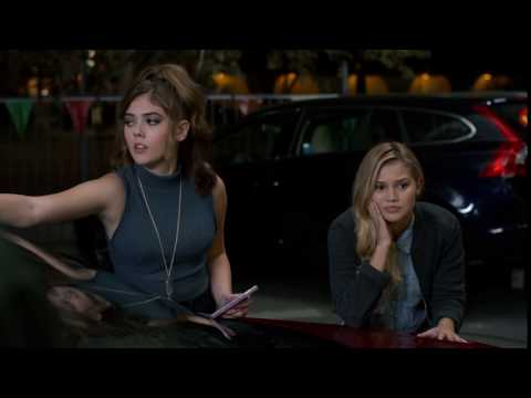 McKaley Miller and Olivia Holt try to survive the Hunger Games or The Standoff