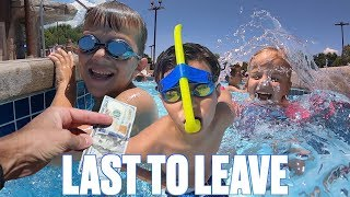 LAST TO LEAVE THE LAZY RIVER WINS $100 CASH!!!