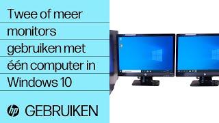 Twee of meer monitors gebruiken met één computer in Windows 10