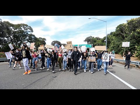 Chanting George Floyd Protesters Block Traffic On Highway 101 In Slo Youtube
