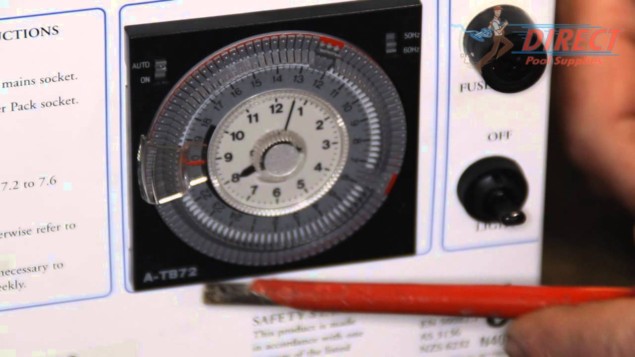 How to replace a time clock in a Saltwater Chlorinator ...