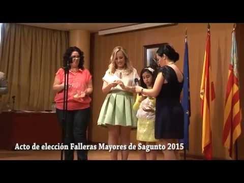 Eleccion Falleras Mayores Sagunto 2015