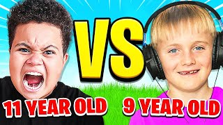 9 YEAR OLD vs 11 YEAR OLD (Fortnite 1v1)