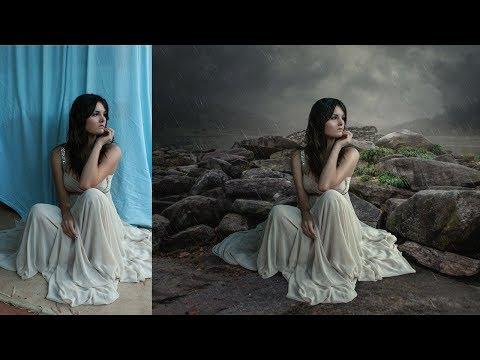 Rain Effect And Photoshop Manipulation Tutorial