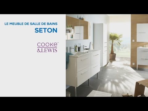 meuble de salle de bains seton cooke lewis 604991 castorama youtube. Black Bedroom Furniture Sets. Home Design Ideas