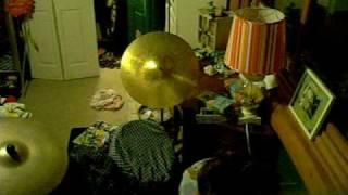13 year old drummer improv dedicated to rock da mullet