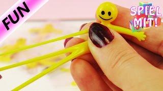 8 Glibber Gummi Smiley Stuntman Männchen | extrem flexibel und dehnbar