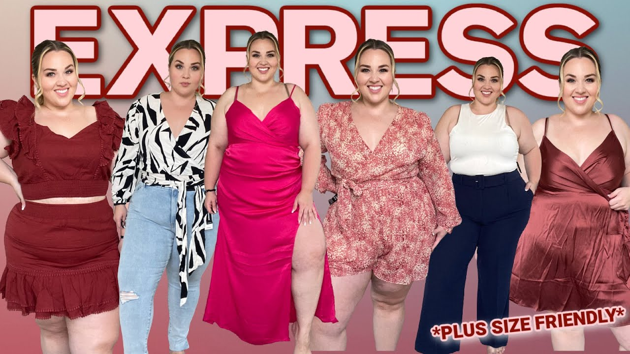 NEW Hits & Misses from EXPRESS for Plus Size  - TRY ON HAUL | Sarah Rae Vargas