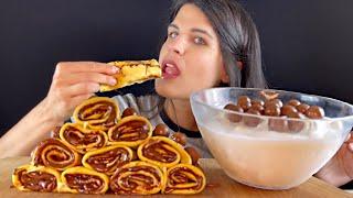 NUTELLA MALTESERS CREPES & ICE CREAM | MUKBANG | EATING SOUNDS | ASMR