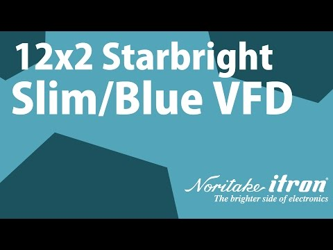Noritake VFD: Slim Message Sign Display - Beautiful Blue Color for PS USB POS
