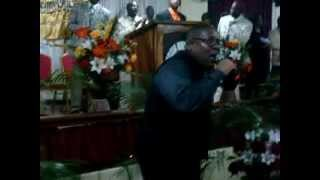 Bishop Devonry Harvey preaching in Mandeville Jamaica... Clip 3