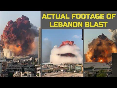 Actual Footage Of Beirut, Lebanon Blast | Beirut blast: Massive explosion shakes Lebanon's capital