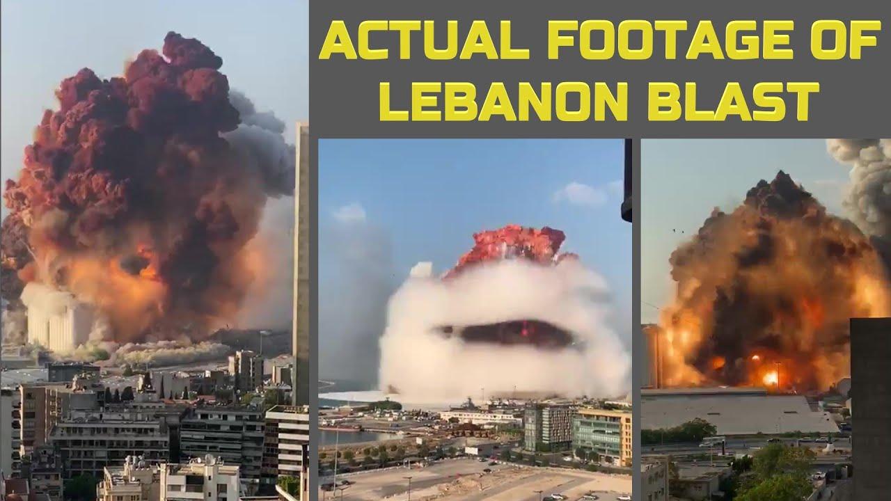 Actual Footage Of Beirut, Lebanon Blast | Beirut blast: Massive ...