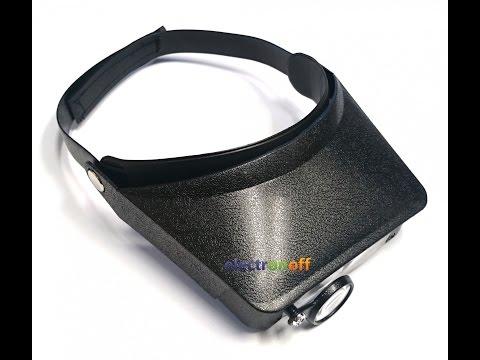 Бинокуляры MG81006. Две увеличительные линзы+лупа. Видео от Electronoff.