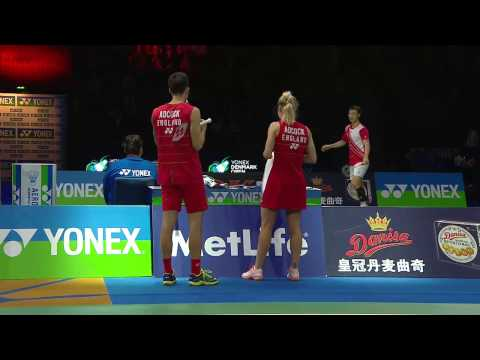 Yonex Denmark Open 2016 | Badminton SF M3-XD | Fis/Ped vs Adc/Adc