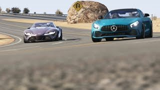 Download Mercedes-Benz AMG GTR '17 vs Toyota FT-1 at Black Cat Country Mp3 and Videos