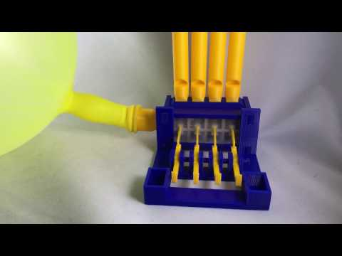 Four 3D Printed Whistles 2, Valve Test