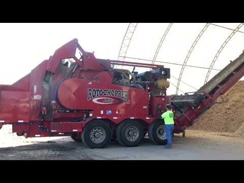 Shredding Pallets for Mulch Production - Hay Creek Companies