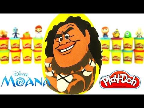 Ovo Surpresa Gigante do Maui do filme Moana em Português Brasil de Massinha Play Doh