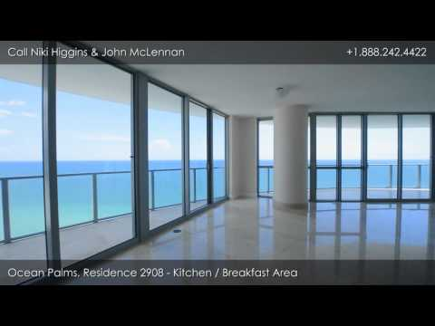 Ocean Palms, 3101 S. Ocean Dr, Hollywood Beach, FL: Luxury Condo 2908