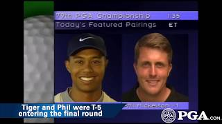 Watch Tiger Woods and Phil Mickelson play their first-ever round together in 1997