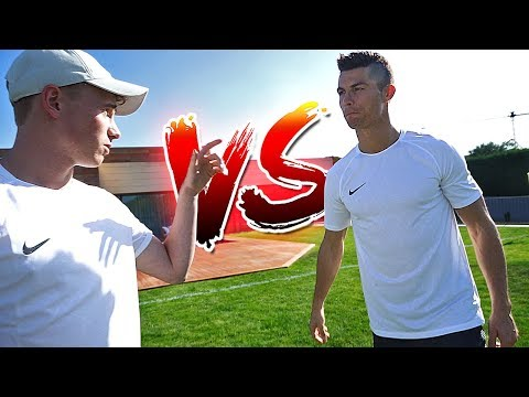 freekickerz vs Cristiano Ronaldo - Free Kick Challenge