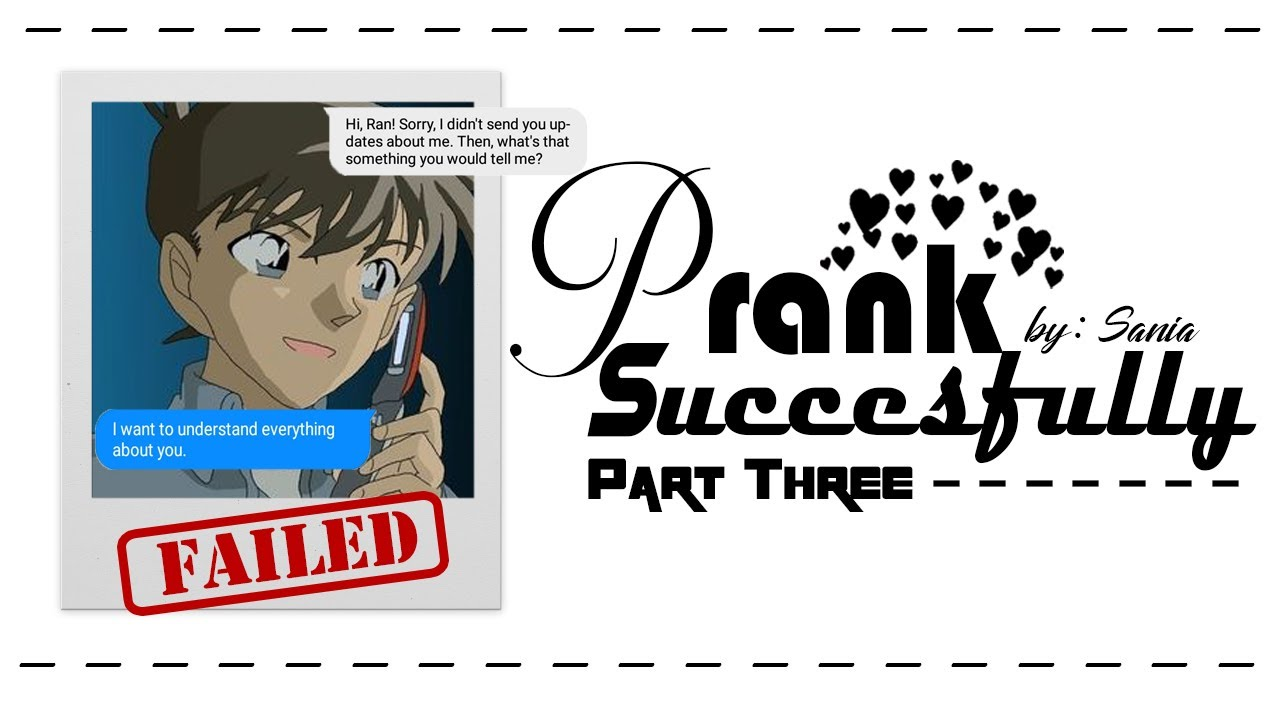 Prank Successfully Failed (The Prank Begins Part)    Detective Conan  FanFiction - YouTube