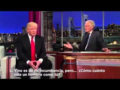 Letterman y Donald Trump hablan de Carlos Slim