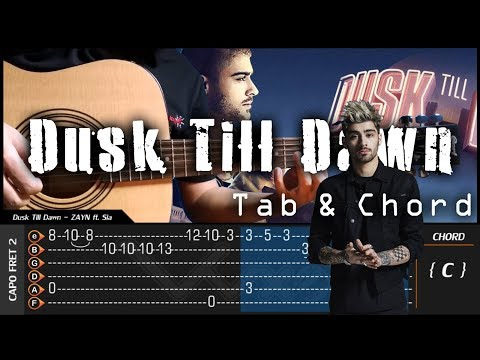 ZAYN - Dusk Till Dawn ft. Sia - Cover (Fingerstyle Cover) + TAB Tutorial (Lesson)