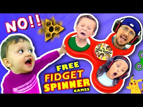 Thumbnail: 🌟 FIDGET SPINNER TOYS🌟 SAY NO!! $0 Free Hand Spinner Games w/ FGTEEV Dad & Kids (Top 5 iPad Apps)