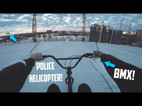 *POLICE HELICOPTER* BMX RIDING ON THE O2 ARENA!
